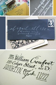 Calligraphy Love / / Jennifer Pace Design - I wish there were still reasons to post handwritten letters these days... :(