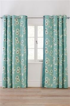 Buy Retro Floral Print Eyelet Curtains from the Next UK online shop