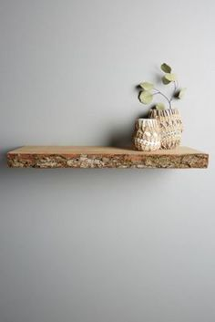 Live-Edge Wood Floating Shelf by Anthropologie Neutral One Size Hardware