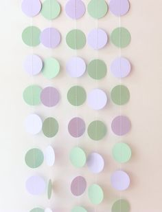 Wedding Garland Mint Green Lavender Paper by MailboxHappiness, $10.00