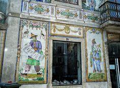 Lisboa, Portugal. Casa Viúva Lamego, Largo do Intendente.