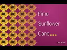 FIMO Sonnenblumen-Cane: Polymer Sunflower - Tutorial [HD/DE] (EN-Sub) - YouTube