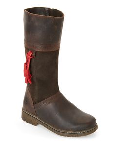 Timberland (Kids Girls) Brown Earthkeepers Amesbury Tasseled Tall Boots