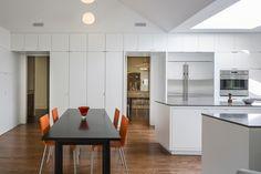 In Leawood, Kansas, Forward Design Tiny Studio, Eat In Kitchen, Traditional House, Modern Architecture, Modern Design, Family Room, Leawood Kansas, Dining, Interior Design