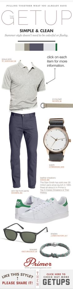 #MENS: Summer style doesn't need to be colorful or flashy, just GET Up & DO These!!  |  http://www.primermagazine.com/2015/spend/summer-getup-week-simple-clean  - @woodandtin - primermagazine.com