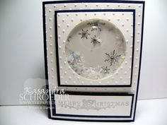 Snowflakes shaker card by kass2667 - Cards and Paper Crafts at Splitcoaststampers