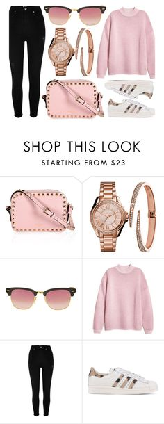 """""""Perfect Pinks"""" by jomashop ❤ liked on Polyvore featuring Ray-Ban, River Island, adidas Originals and Pink"""