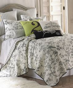 take a look at this levtex home black u0026 white floral bird quilt set today