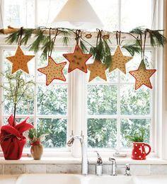 窓クリスマスデコレーション画像
