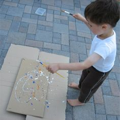 outside art projects for kids