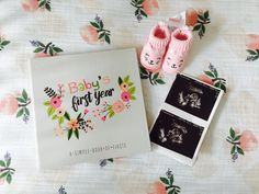 Baby girl's first memory book! I am beyond obsessed with this baby book.