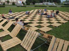 PALLETOWSKA (Warsaw). Public interaction installation by Refunc.nl