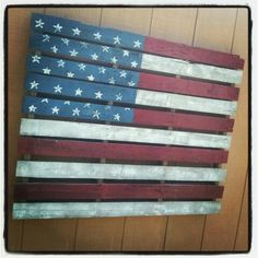 American Flag-Pallet Project this would be great on the porch