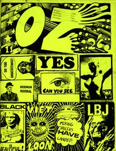 every single page of OZ, the influential psychedelic underground newspaper that was published in London between 1967 and 1973