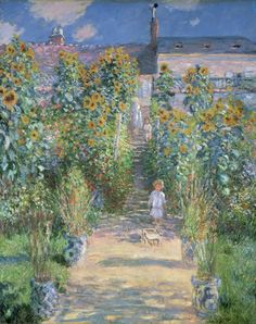 Claude Monet, The Artists Garden at Vétheuil, 1880, National Gallery of Art, Washington, D.C.