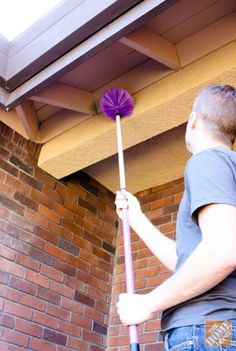 Getting those hard to reach cob webs and 9 other outdoor cleaning tips!