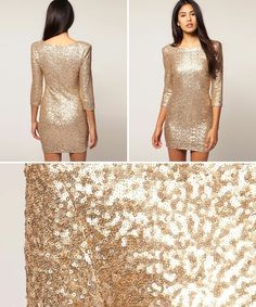 Got a thing for pale gold sequins