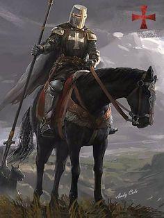 Knight On Horse, Knight Art, Knights Hospitaller, Knights Templar, Fantasy Battle, Fantasy Armor, Medieval Knight, Medieval Fantasy, Knight Tattoo