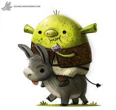 Daily Paint #993. Shrak (FA) by Cryptid-Creations.deviantart.com on @DeviantArt