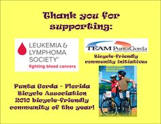 Benefiting LLS and TEAM Punta Gorda bicycle-friendly community initiatives