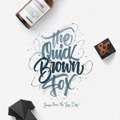 Quick Brown Fox - Hand Lettering & Flatlays Instagram @argoos.letters
