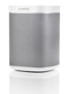 Best Tech Gifts; the Sonos Play:1 wireless speaker plays music from your library and streaming-music services, available in white (shown) or black; $200