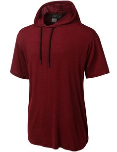 LE3NO Mens Lightweight Hipster Short Sleeve Hoodie Shirt