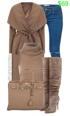 Feeling Winter by highfashionfiles ❤ liked on Polyvore featuring Hermès and Christian Louboutin