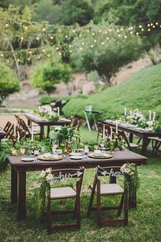 Create a green wedding reception by taking the service outdoors and letting the surrounding nature double as decor.