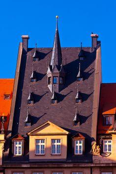 Dachgeschoss eines Hauses in der Altstadt von #Leipzig