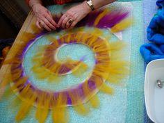 spiral in felt!