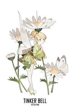 [ Disney Princesses X Kimono ] - Tinker Bell  #Disney_Princesses