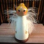 I made a peg doll nativity set for my mom last year, super cute! peg doll angel
