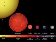 "Relative star sizes and photospheric temperatures. Any planet around a red dwarf, such as the one shown here, would have to huddle close to achieve Earth-like temperatures, probably inducing tidal lock. (Credit: MPIA/V. Joergens) Mona Evans, ""Do Red Dwarfs Live Forever?"" http://www.bellaonline.com/articles/art184046.asp"