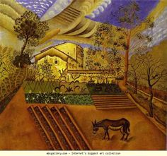 Joan Miro - Hort Amb Ase (The Vegetable Garden With Donkey) - Art Prints by Joan Miró Magritte, Spanish Painters, Spanish Artists, Harlem Renaissance, Garden Painting, Garden Art, Garden Ideas, Dali, Joan Miro Paintings