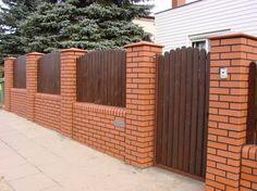 Home Additions, Basement, Kitchen Renovation Fence Gate Design, Modern Fence Design, Privacy Fence Designs, House Gate Design, Brick Columns, Brick Fence, Victorian Front Garden, Brick Wall Gardens, Summer House Garden