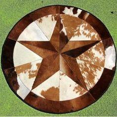 Texas True Western Furniture Decor Gifts Cowboy Rodeo Metallic Cowhide Rugs