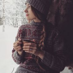 Have a wonderful of December ❤ It's time to have first cup of glögi! Wearing my beautiful sweater made by my dear grandmother and a… Sweater Making, Getting Cozy, December, Turtle Neck, Sweaters, How To Wear, Beautiful, Fashion, Moda