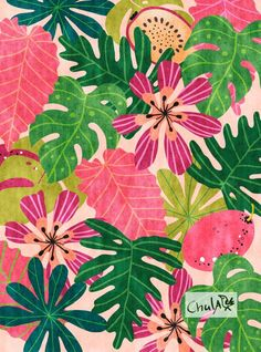Jungle Print, illustration, wall art, poster