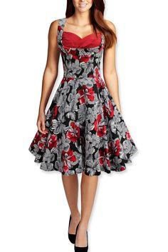 2015 Audrey Hepburn vintage print sleeveless Low-cut ball gown dress women prom party cocktail retro 50s dress