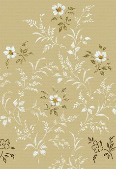 The best vintage romantic floral designs from Rose Unite collection, Vintage Flowers Wallpaper, Flower Wallpaper, Of Wallpaper, Pattern Wallpaper, Vintage Art Prints, Vintage Floral Patterns, Floral Designs, Textiles, Daisy Painting