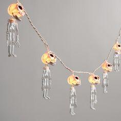 Dangling Skeletons Halloween String Lights | World Market