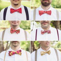 Wedding inspiration and ideas for destination weddings: Massachusetts wedding groomsmen bowties