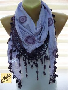 Purple scarf women scarves  Fashion scarf  gift by MebaDesign