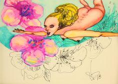 Saatchi Art, Disney Characters, Fictional Characters, Original Paintings, Nude, Watercolor, Disney Princess, Artist, Artworks