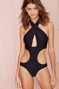 PARTE DE CIMA Nasty Gal Cross Purposes Swimsuit at Nasty Gal