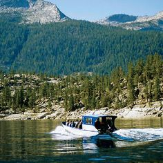 Cool! Take a boat to get into the John Muir Wildnerness: Florence Lake ferry