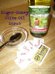 My Makeup Blog: makeup, skin care and beyond: DYI Beauty: Sugar-Honey Olive Oil Scrub