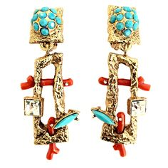 Costume Jewelry Earrings Christian Lacroix Haute Couture. Early 1990s.  Private collection.