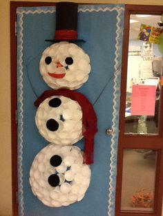 christmas door decorating decor contest aaron office door decorated